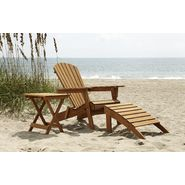 Country Living Adirondack Chair, Ottoman, & Side Table Bundle - Natural at Kmart.com