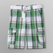 Toughskins Boy's Cargo Shorts & Belt - Plaid at Sears.com
