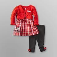 Disney Minnie Mouse Infant Girl's Dress, Shrug & Leggings at Sears.com