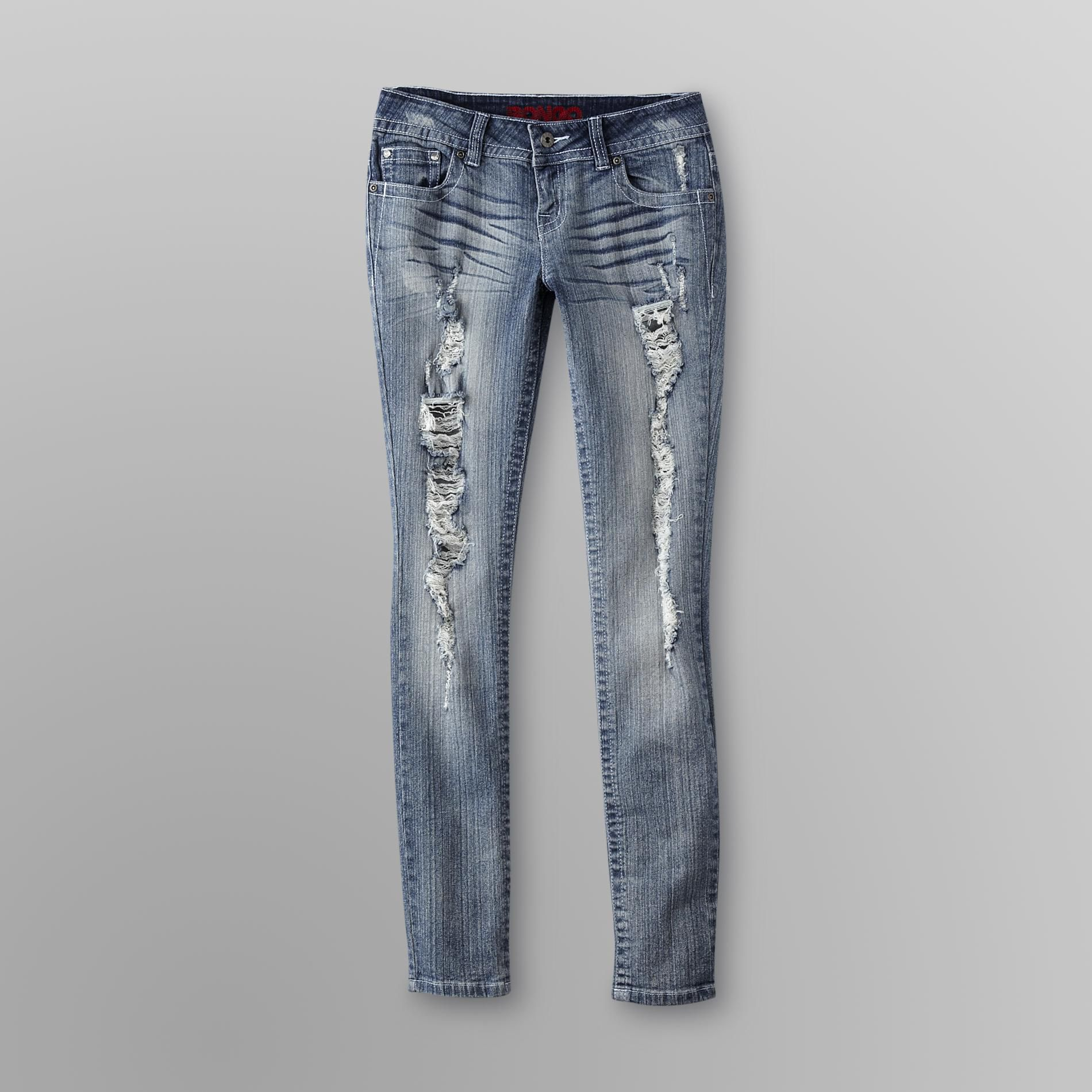 Bongo Junior's Bling Pocket Destructed Skinny Jeans at Sears.com