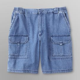 Basic Editions Men's Discovery Cargo Shorts - Denim at Kmart.com
