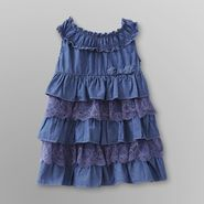 Route 66 Infant & Toddler Girl's Chambray Ruffled Dress at Kmart.com