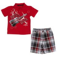 Little Rebels Infant and Toddler Boy's 2 Pc Born 2 Rock Short Set at Kmart.com