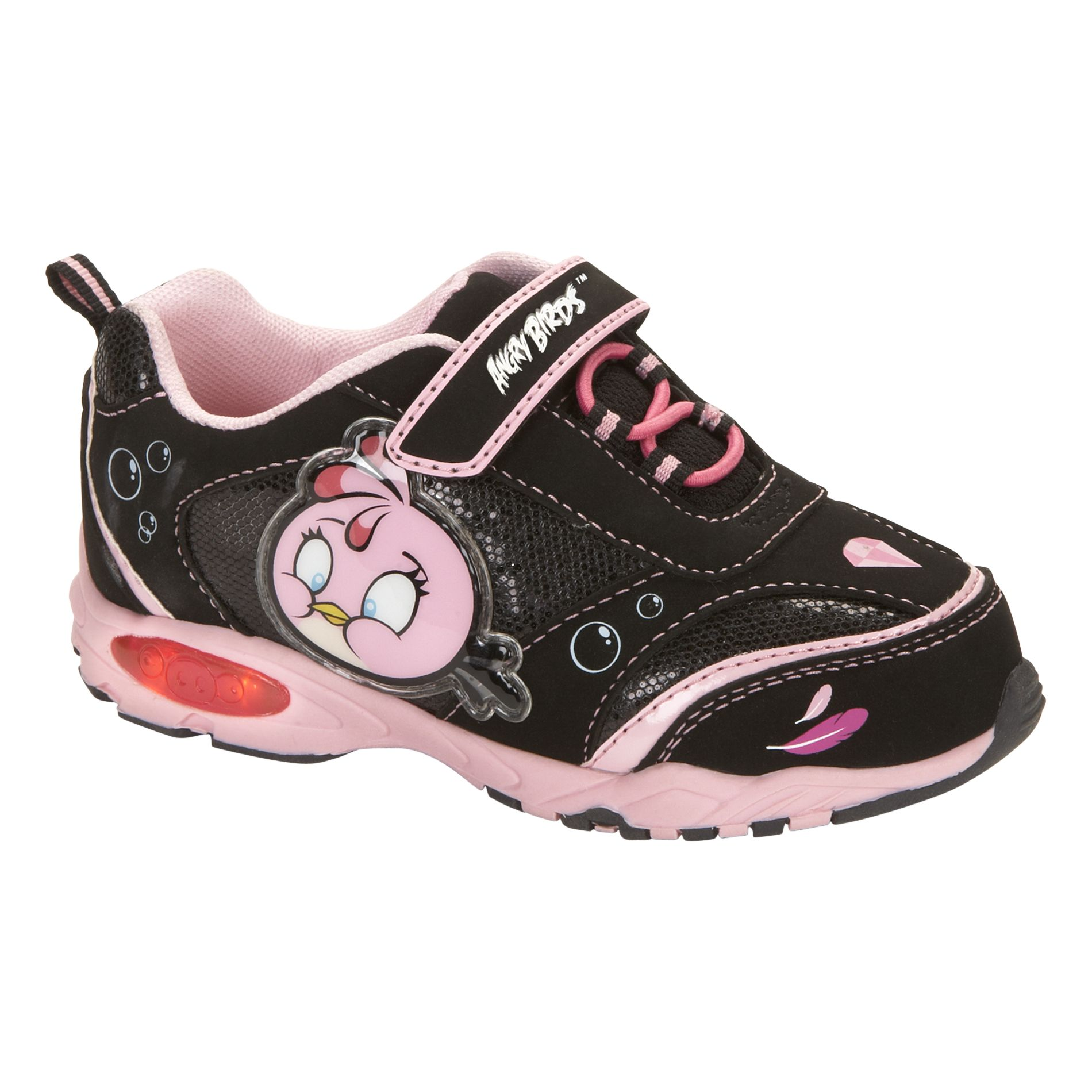 Angry Birds Toddler/Girl's Angry Bird Sneaker - Black/Pink