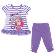 Strawberry Shortcake Infant & Toddler Girl's 2 Pc Strawberry Shortcake Striped Legging Set at Sears.com