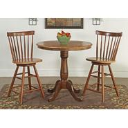 "International Concepts Set of 3 pcs - 36"" Round Counter Height Pedestal Table with 2 Copenhagen Stools at Kmart.com"