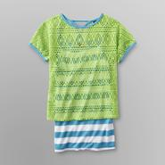 Knitworks Kids Girl's Pointelle Top & Cami - Striped at Sears.com