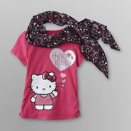 Hello Kitty Girl's Graphic T-shirt & Scarf at Sears.com