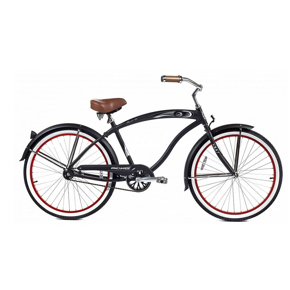 Micargi Matte Black Rover LX Beach Cruiser Male
