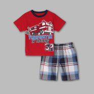 Little Rebels Infant & Toddler Boy's Firefighter Plaid Short Set at Kmart.com