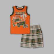 Little Rebels Boy's 2 Pc 'Safari' Plaid Tank & Shorts Set at Sears.com