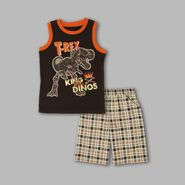 Little Rebels Boy's 2 Pc 'T-Rex' Plaid Tank & Shorts Set at Sears.com