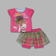 Disney Baby Toddler Girl's 2 Pc Doc Glitter Shirt and Skegging Set at Kmart.com