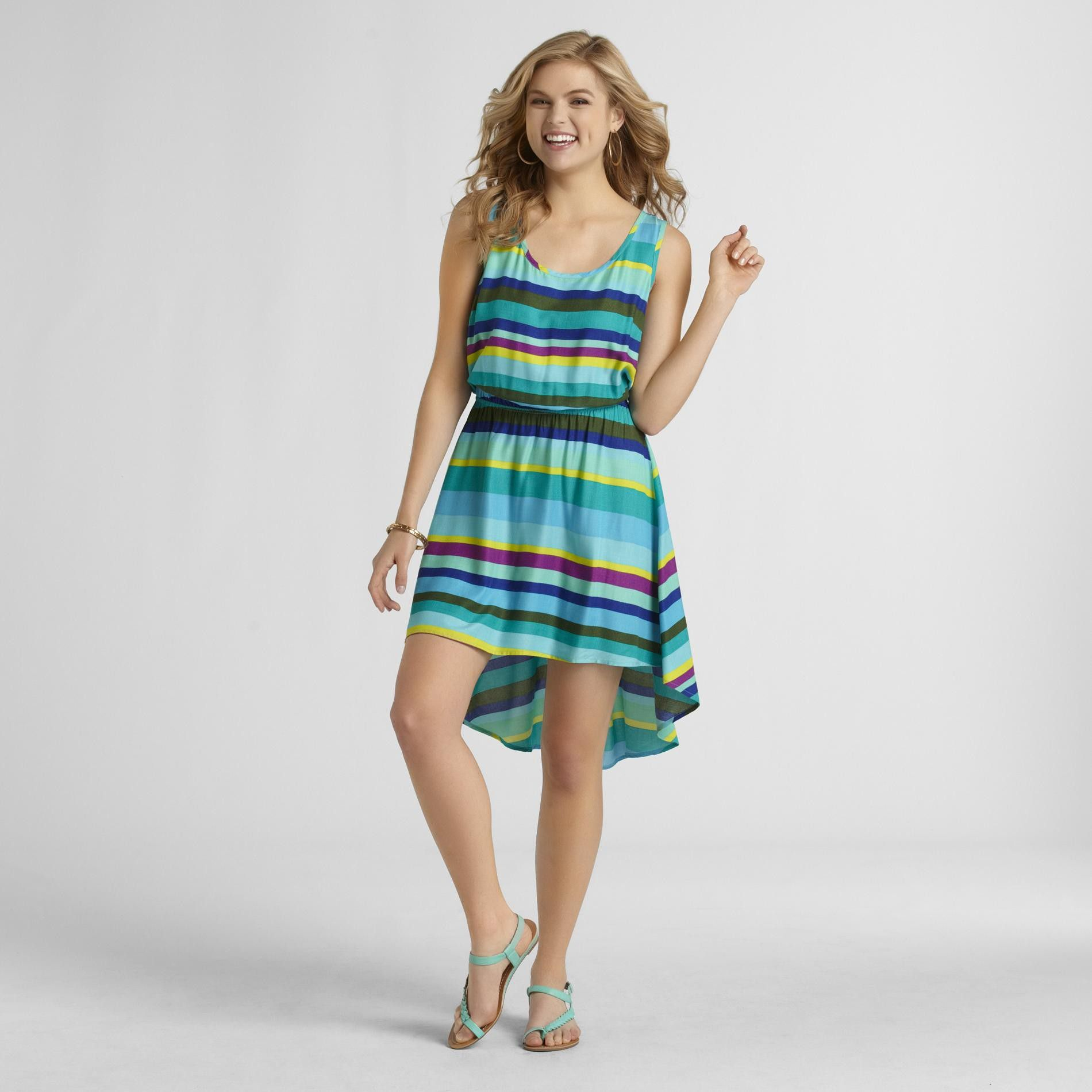 Metaphor Women's Sleeveless High-Low Dress - Striped at Sears.com