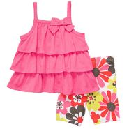 Carter's Infant Girl's 2 Pc Floral Ruffle Tank Top and Short Set at Sears.com