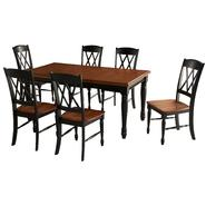 Home Styles Monarch Rectangular Dining Table and Six Double X-back Chairs at Kmart.com