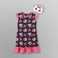 Joe Boxer Girl's Ruffle Nightgown & Sleep Mask - Kitty at Kmart.com