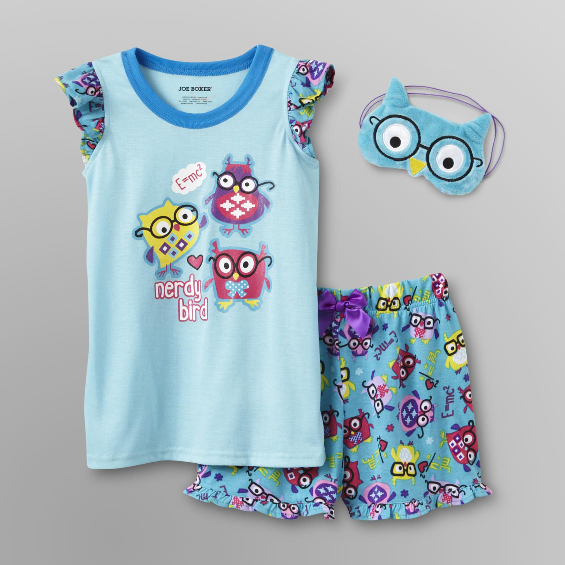 3-Piece Girl's Pajamas - Owl