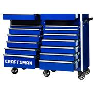 "Craftsman 54"" 13-Drawer Ball Bearing Slides Roller Cabinet Blue at Sears.com"