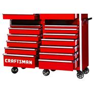 "Craftsman 54"" 13-Drawer Ball Bearing Slides Roller Cabinet Red at Sears.com"