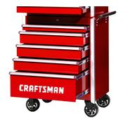 "Craftsman 27"" 5-Drawer Ball Bearing Slides Roller Cabinet Red at Sears.com"