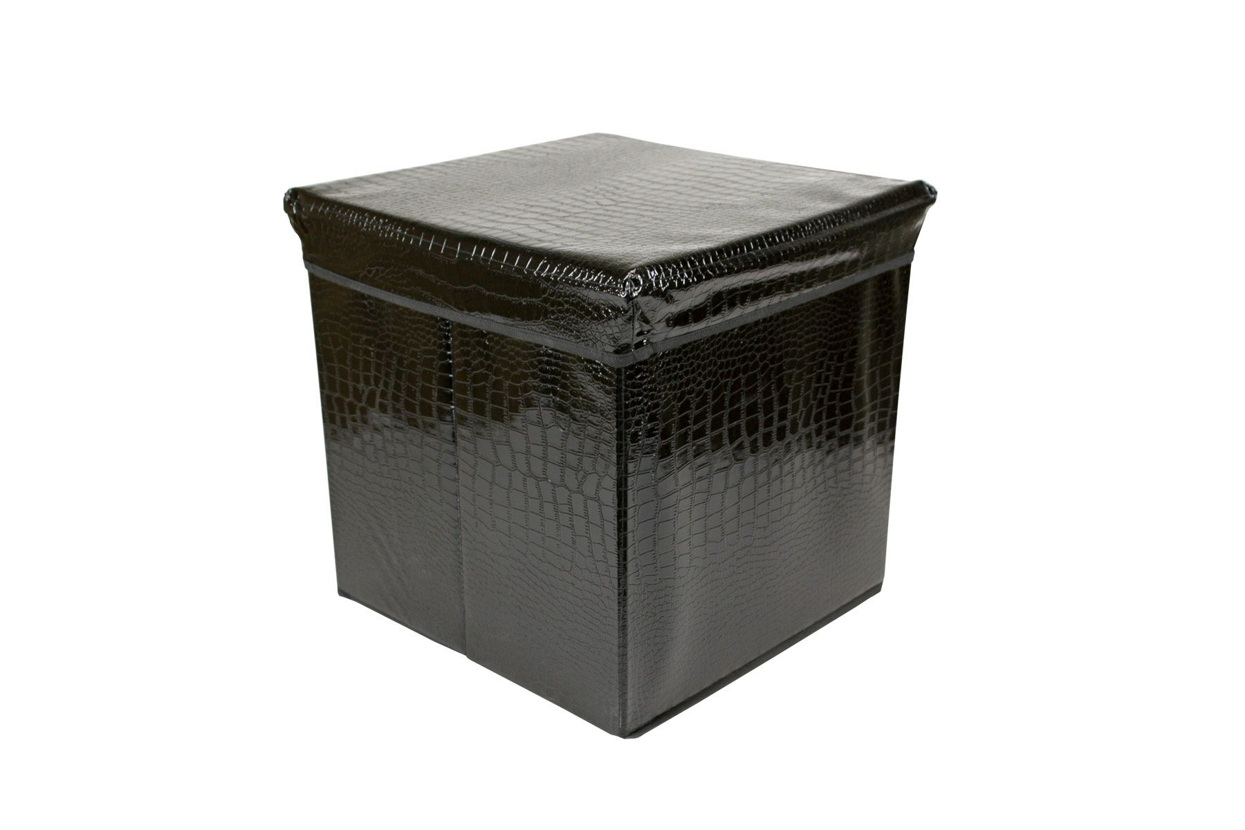 Black-Folding-Storage-Ottoman