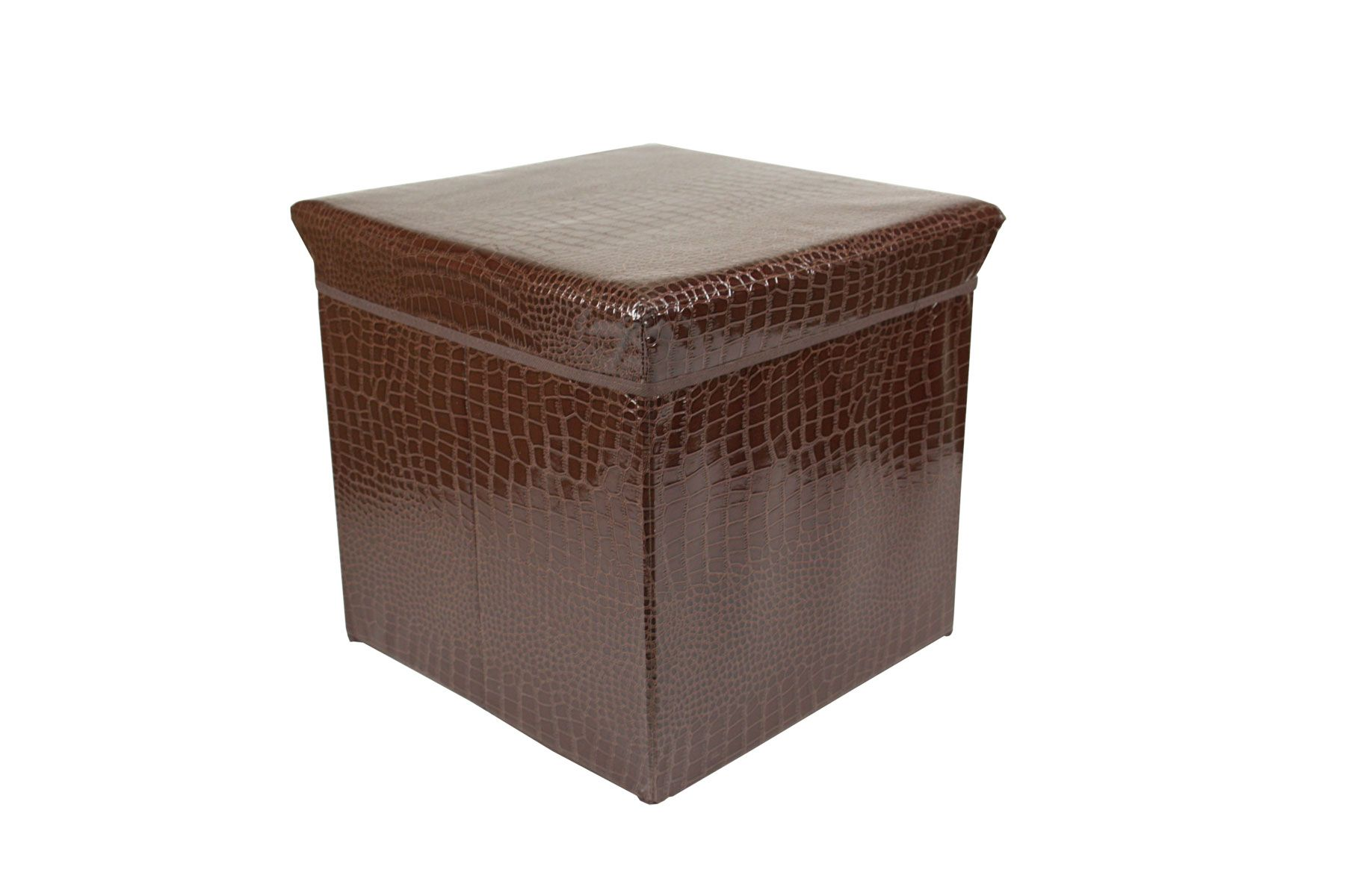 Brown-Folding-Storage-Ottoman