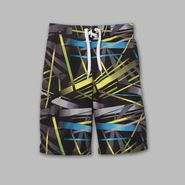 Joe Boxer Boy's Crossline Pattern Basic Tied Board Shorts at Kmart.com
