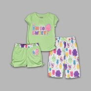 Joe Boxer Infant & Toddler Girl's 3 Pc 'Sweets' Sleepwear Set at Sears.com