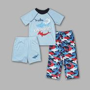 Joe Boxer Infant & Toddler Boy's 3 Pc 'Blue Shark' Sleepwear Set at Sears.com