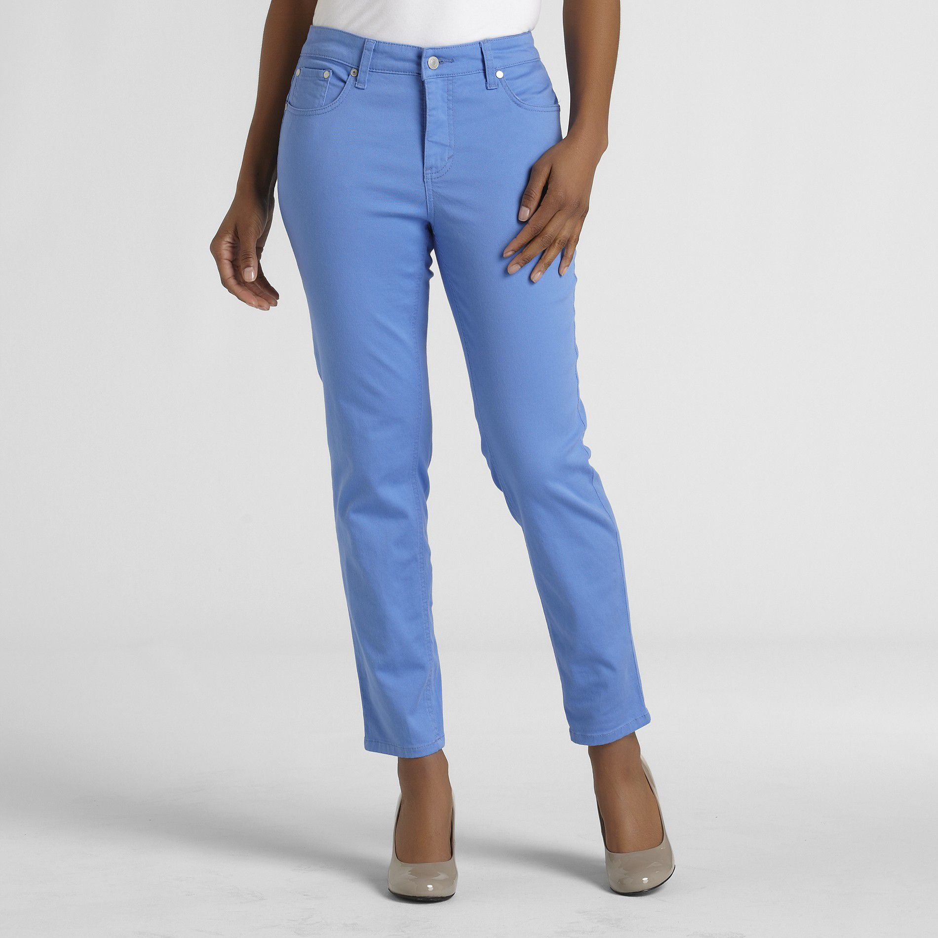 Jaclyn Smith Women's Slim Ankle Stretch Color Jeans at Kmart.com