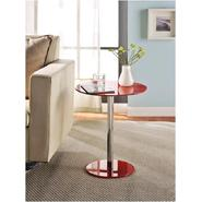 Altra Round Chrome Accent Table Red at Kmart.com