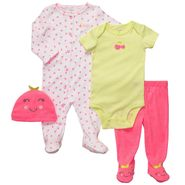 Carter's Newborn Girl's 4 Pc Cherry Layette Set at Sears.com