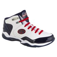 Spalding Men's Basketball Shoe Breakout Mid - White/Red/Navy at Kmart.com