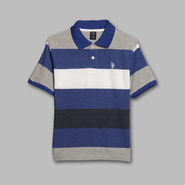 US Polo Assn. Boy's Collared Striped Polo Shirt at Sears.com