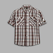 US Polo Assn. Boy's Cuffed Plaid Woven Shirt at Sears.com