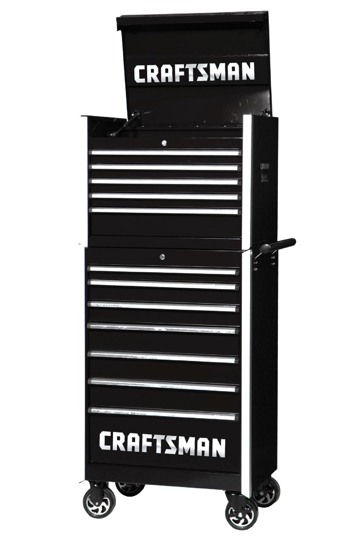 -Craftsman 27-Inch 12-Drawer Vintage Tool Storage Combo -Black