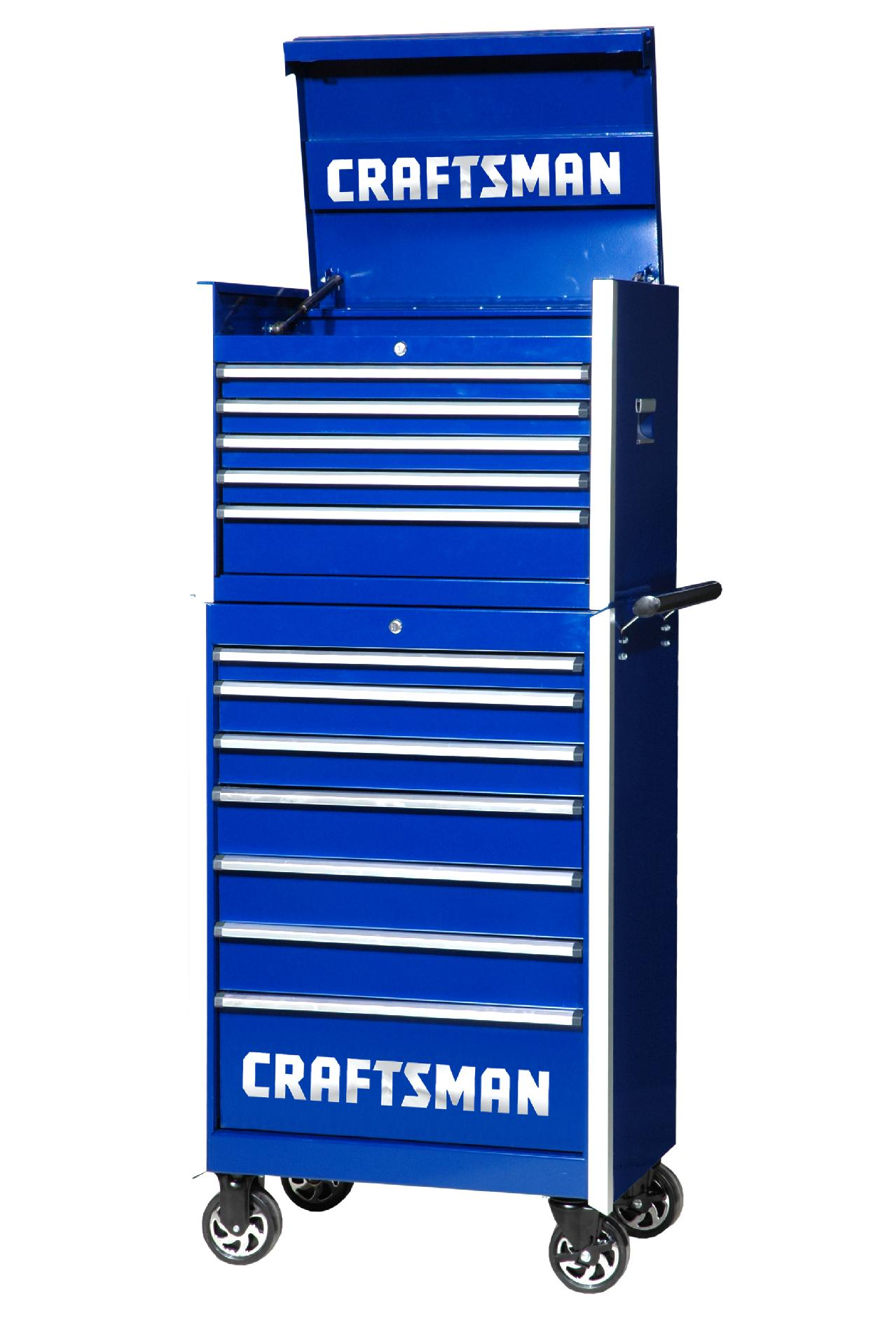 -Craftsman 27-Inch 12-Drawer Vintage Tool Storage Combo -Blue