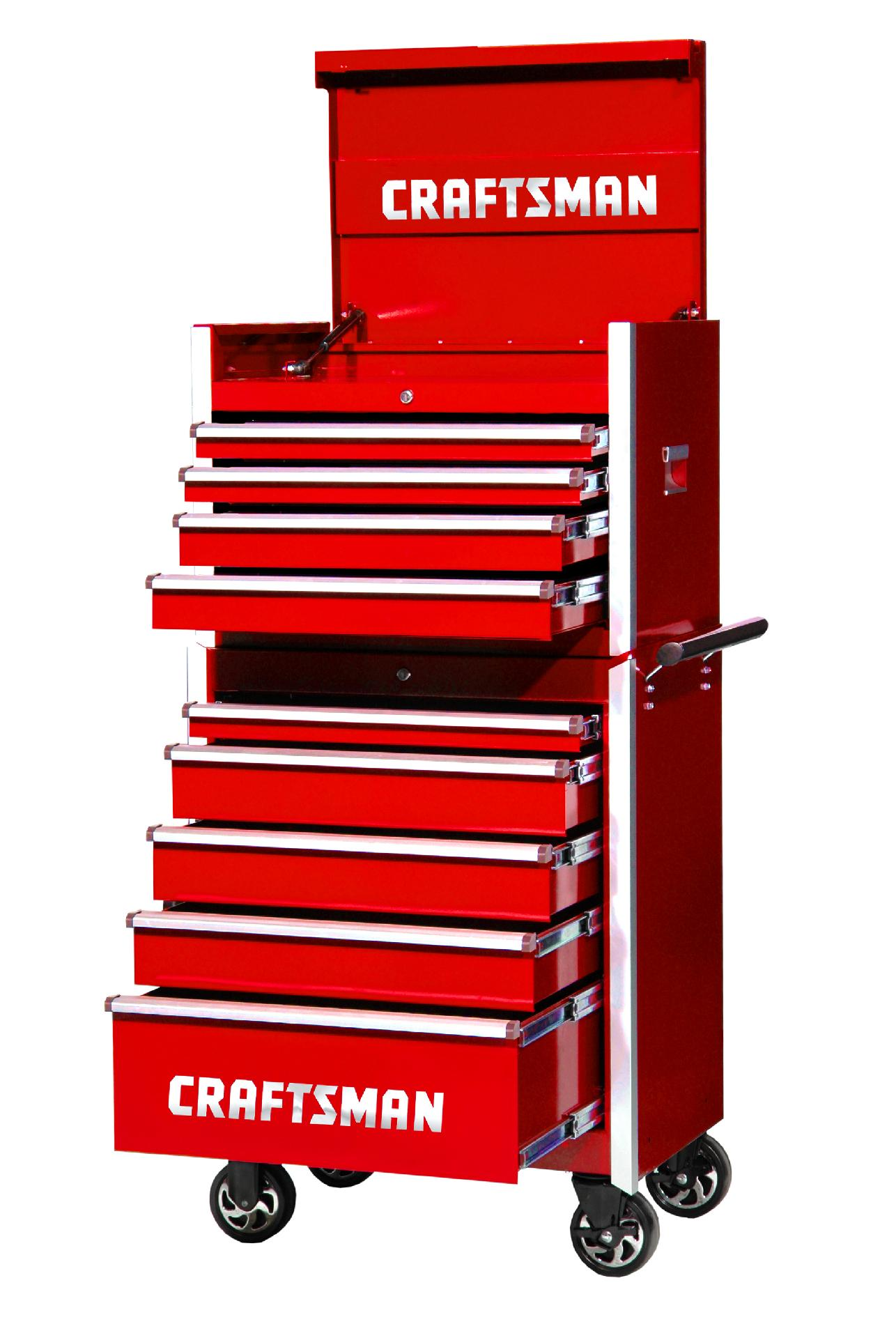 -Craftsman 27-Inch 9-Drawer Vintage Tool Storage Combo - Red