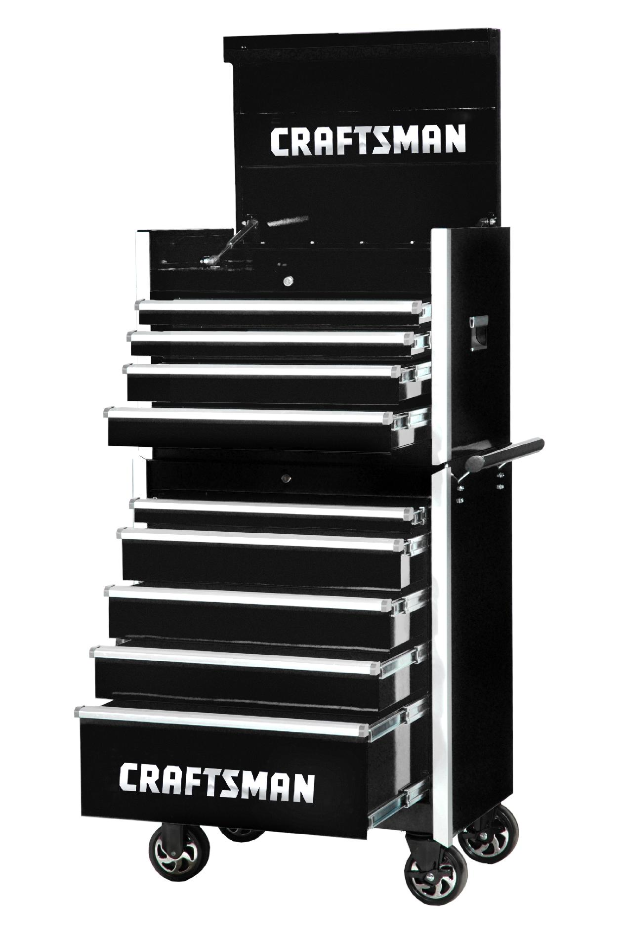 -Craftsman 27-Inch 9-Drawer Vintage Tool Storage -Black