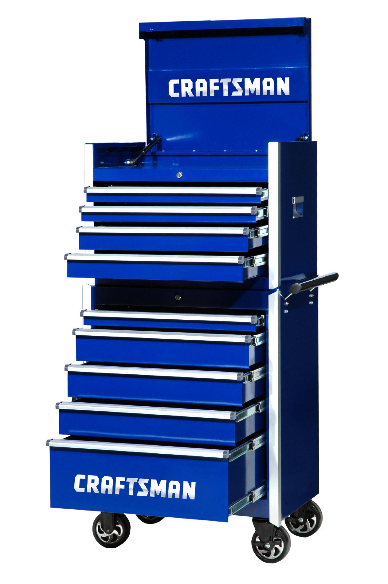 -Craftsman 27-Inch 9-Drawer Vintage Tool Storage Combo -Blue