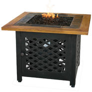 UniFlame Lp Gas Outdoor Firebowl With Slate And Faux Wood Mantel at Sears.com