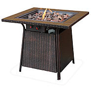 UniFlame Lp Gas Outdoor Firebowl With Tile Mantel at Sears.com