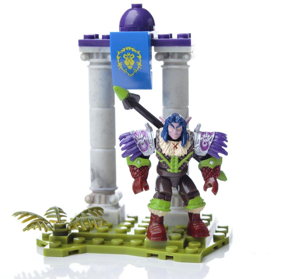 Mega Bloks World Warcraft Ironoak Elf Hunter Action Figure Building Set 91002 PartNumber: 004W004605245004P