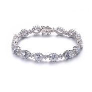COLLETTE Z Cubic Zirconia (.925) Sterling Silver Classic oval Bracelet at Kmart.com