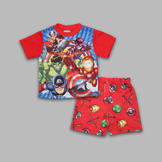 Marvel Toddler Boy's 2 Pc Short Sleeve Superhero Squad Pajama Set at mygofer.com
