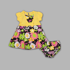 Toddler Girl's Layered Look Dress - Floral