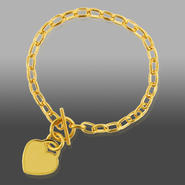 Romanza Gold Over Bronze Toggle Heart Bracelet at Kmart.com