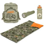 Camo Slumber Duffle with Flashlight and Bottle at Kmart.com
