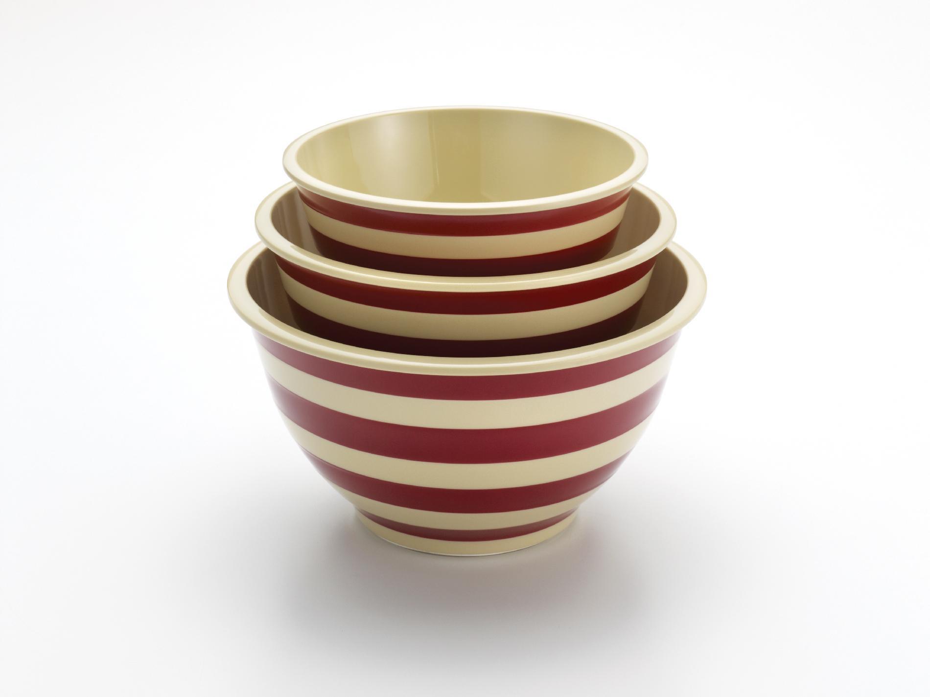 Paula Deen Signature Pantryware 3-Piece Striped Mixing Bowl Set, Red Stripe PartNumber: 00837061000P KsnValue: 5775657 MfgPartNumber: 57528